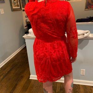 A Beautiful Soul red lace dress